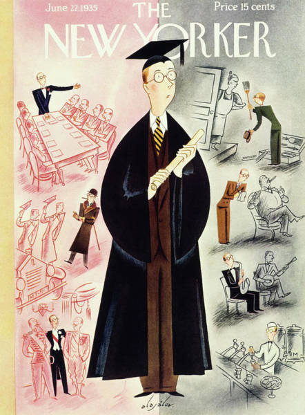 Rake Painting - New Yorker June 22 1935 by Constantin Alajalov
