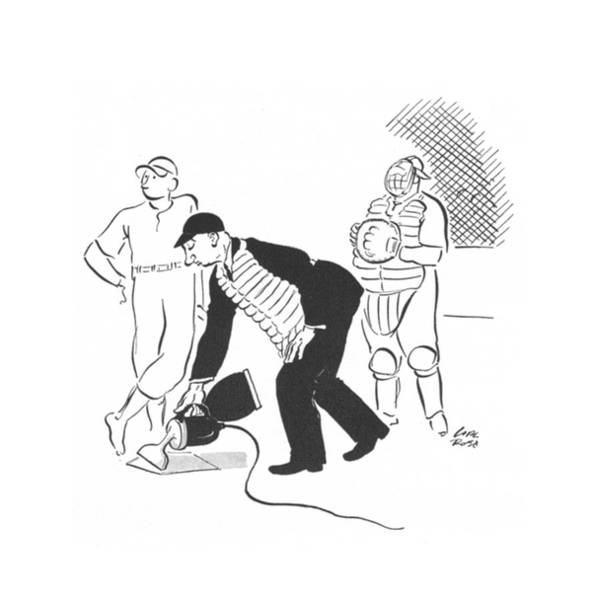 Home Plate Drawing - New Yorker June 22nd, 1940 by Carl Rose