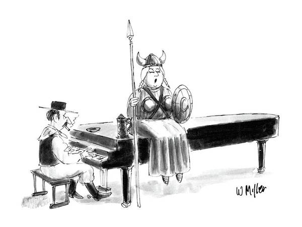 Entertainment Drawing - New Yorker June 22nd, 1987 by Warren Miller