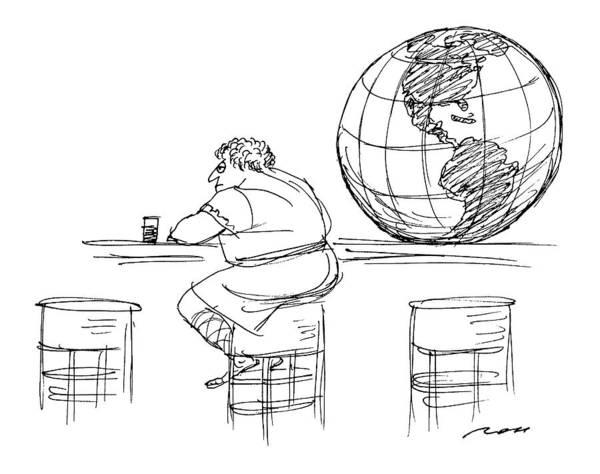 Atlas Drawing - New Yorker June 22nd, 1992 by Al Ross
