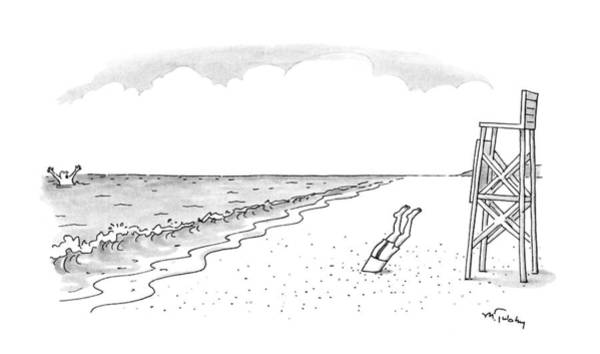 Water Sports Drawing - New Yorker June 22nd, 1992 by Mike Twohy