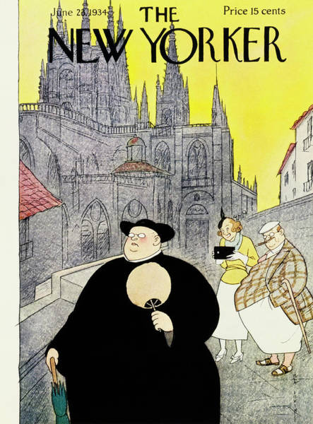 Female Painting - New Yorker June 23 1934 by Rea Irvin