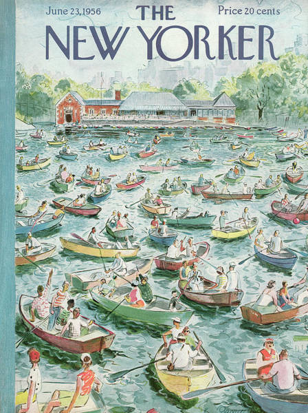 Summer Painting - New Yorker June 23rd, 1956 by Garrett Price