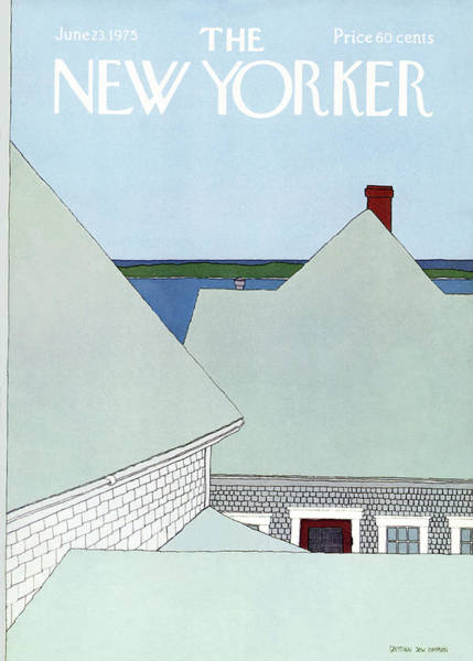 Roof Painting - New Yorker June 23rd, 1975 by Gretchen Dow Simpson