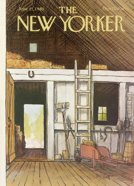 Barn Painting - New Yorker June 23rd, 1980 by Arthur Getz