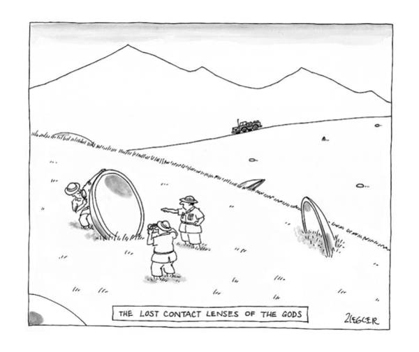 Science Fiction Drawing - New Yorker June 23rd, 1997 by Jack Ziegler