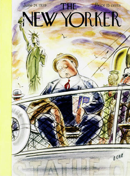 Humor Painting - New Yorker June 24 1939 by Leonard Dove