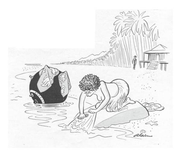 South Island Drawing - New Yorker June 24th, 1944 by  Alain