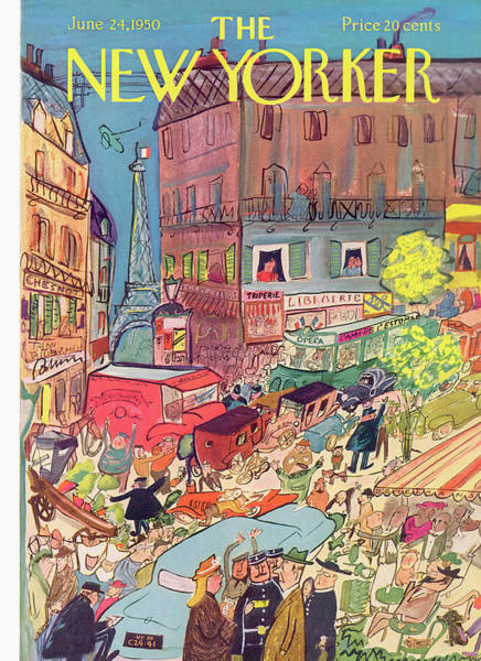 Travel Painting - New Yorker June 24th, 1950 by Ludwig Bemelmans