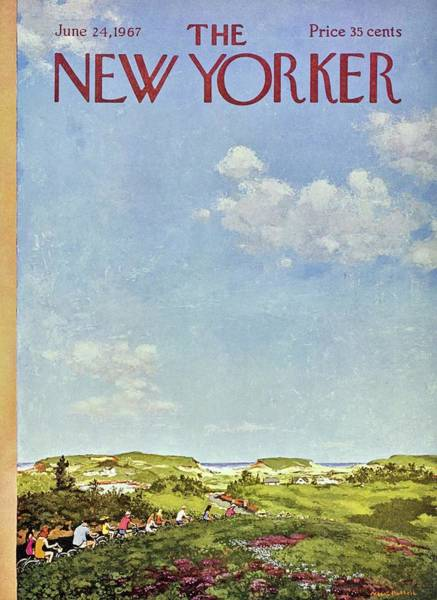 Bicycle Painting - New Yorker June 24th 1967 by Albert Hubbell