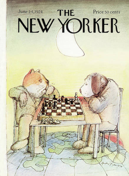June 24th Painting - New Yorker June 24th, 1974 by Andre Francois