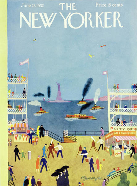 Nobody Painting - New Yorker June 25 1932 by Arthur K. Kronengold