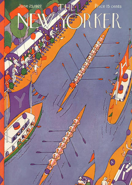 Race Painting - New Yorker June 25th, 1927 by Ilonka Karasz