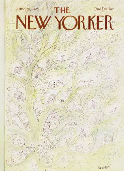 June 25th Painting - New Yorker June 25th 1979 by JJ Sempe