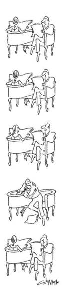 Man And Woman Drawing - New Yorker June 25th, 1979 by Vahan Shirvanian