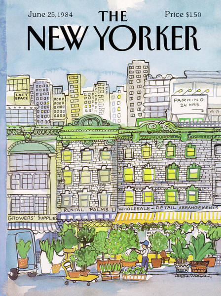 Vendor Painting - New Yorker June 25th, 1984 by Barbara Westman