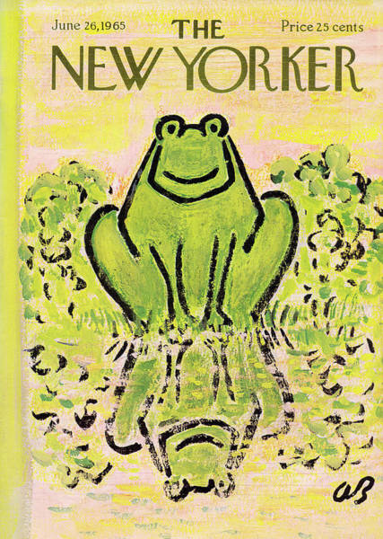 Swamp Painting - New Yorker June 26th, 1965 by Abe Birnbaum