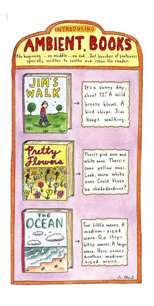 Flower Drawing - New Yorker June 26th, 1995 by Roz Chast