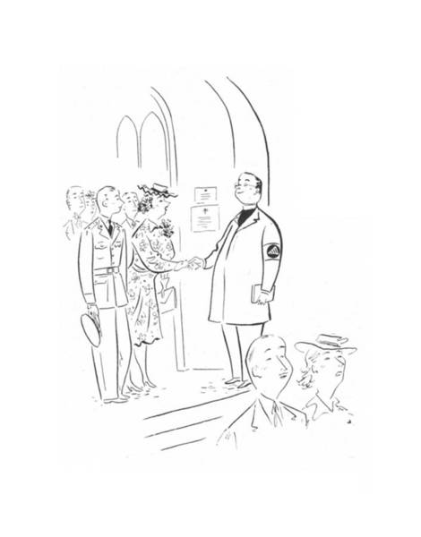 Christianity Drawing - New Yorker June 27th, 1942 by Constantin Alajalov