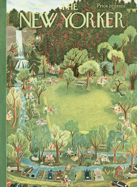 Wildlife Painting - New Yorker June 27th, 1953 by Ilonka Karasz