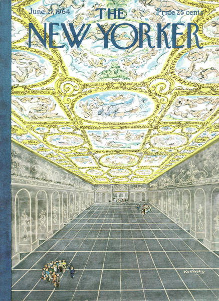 Architecture Painting - New Yorker June 27th, 1964 by Anatol Kovarsky