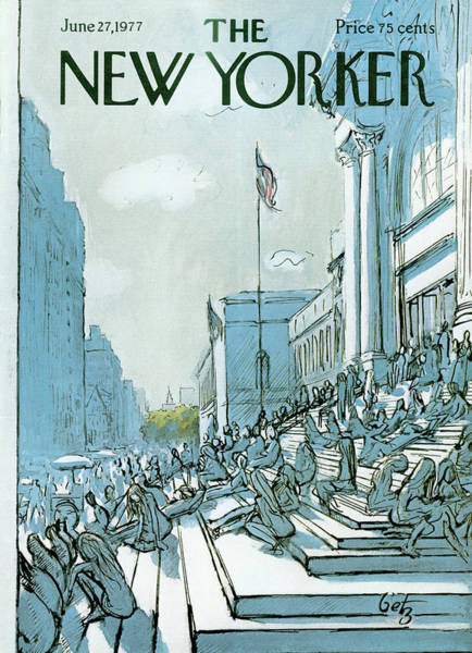 Summer Vacation Painting - New Yorker June 27th, 1977 by Arthur Getz