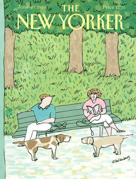 Park Painting - New Yorker June 27th, 1988 by Devera Ehrenberg