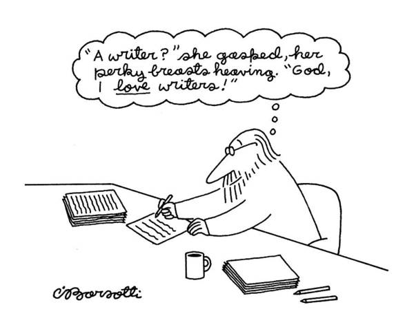 Authors Drawing - New Yorker June 27th, 1994 by Charles Barsotti