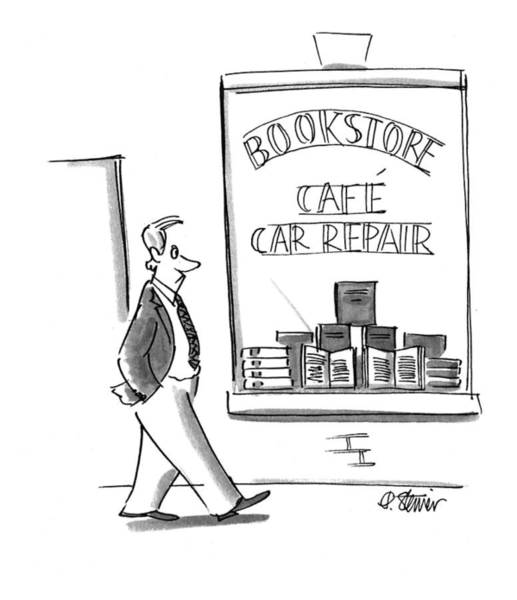 Bookstore Drawing - New Yorker June 27th, 1994 by Peter Steiner
