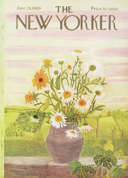 Floral Painting - New Yorker June 28th, 1969 by Ilonka Karasz