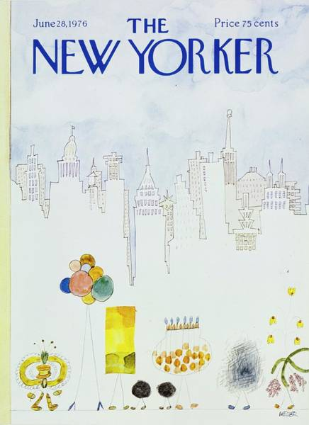 New York City Skyline Painting - New Yorker June 28th 1976 by Robert Weber