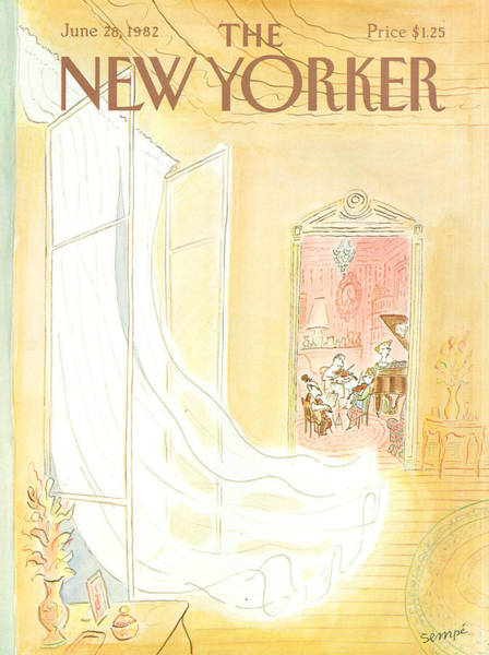 Music Painting - New Yorker June 28th, 1982 by Jean-Jacques Sempe