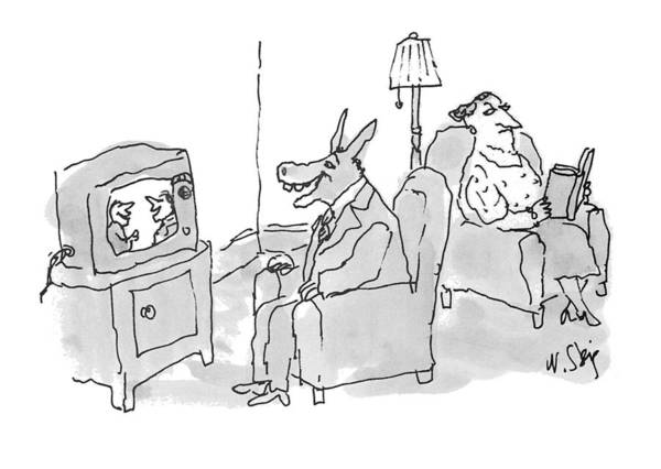 Annoying Drawing - New Yorker June 28th, 1993 by William Steig