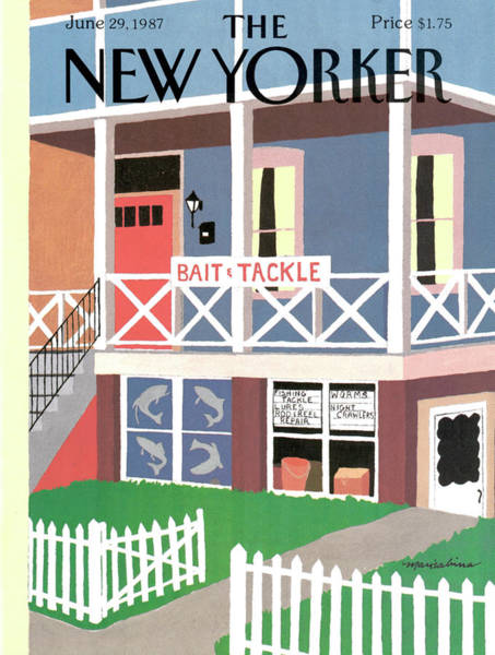 Summer Vacation Painting - New Yorker June 29th, 1987 by Marisabina Russo