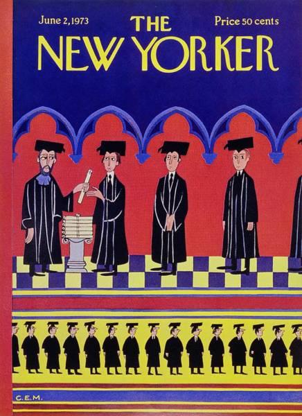 Graduation Painting - New Yorker June 2nd 1973 by Charles Martin