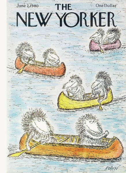 Rowing Painting - New Yorker June 2nd, 1980 by Edward Koren