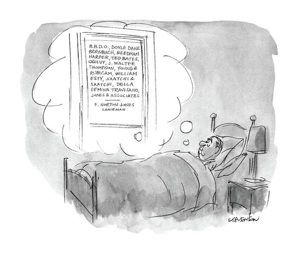 Mergers Drawing - New Yorker June 2nd, 1986 by James Stevenson