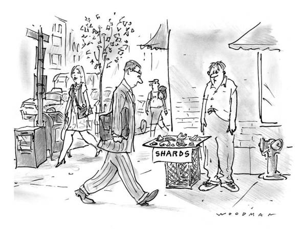 Vendor Drawing - New Yorker June 2nd, 1997 by Bill Woodman