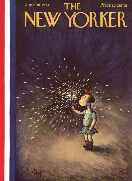 Night Painting - New Yorker June 30th, 1934 by William Steig