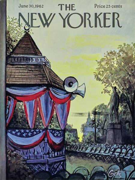 American Culture Painting - New Yorker June 30th 1962 by Arthur Getz