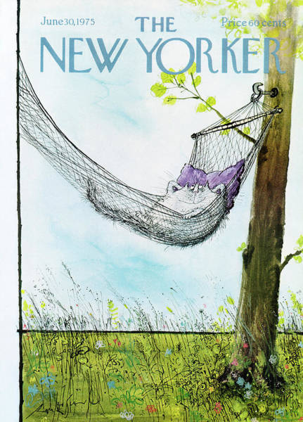 Pet Painting - New Yorker June 30th, 1975 by Ronald Searle