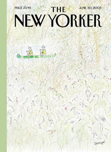 Bird Painting - New Yorker June 30th, 2003 by Jean-Jacques Sempe
