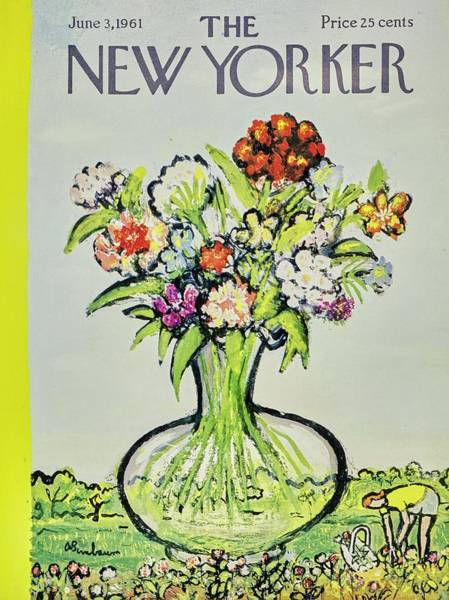 Flower Painting - New Yorker June 3rd 1961 by Aaron Birnbaum