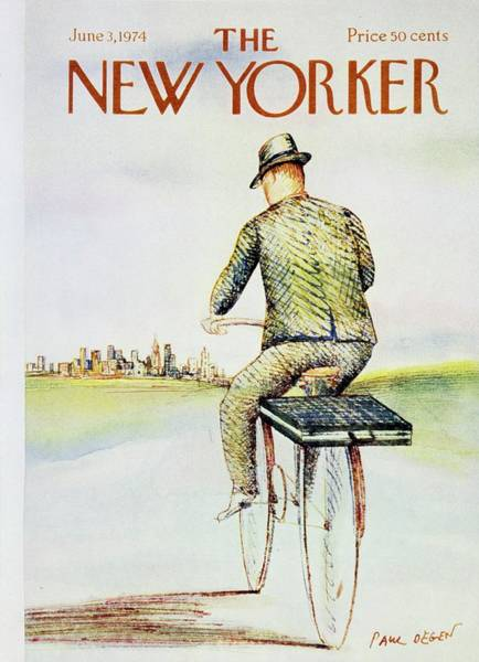 Bicycle Painting - New Yorker June 3rd 1974 by Paul Degen