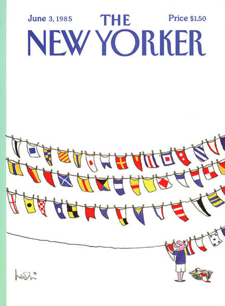 Nautical Painting - New Yorker June 3rd, 1985 by Arnie Levin