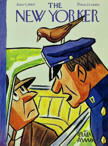 Headgear Painting - New Yorker June 4th 1960 by Peter Arno
