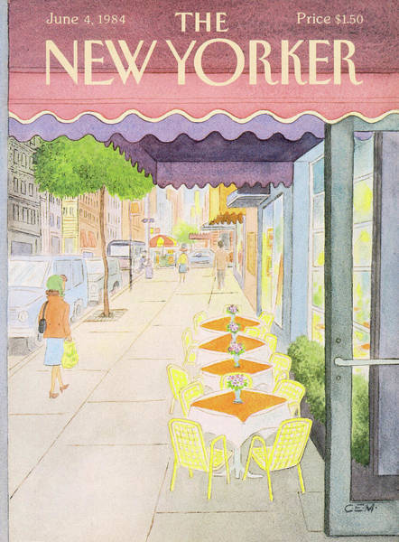 Table Painting - New Yorker June 4th, 1984 by Charles E Martin