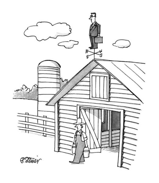 Weathervane Drawing - New Yorker June 4th, 1990 by Peter Steiner