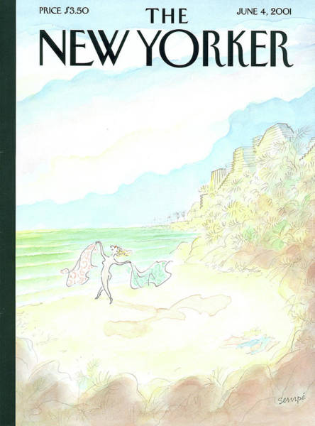 Jeans Painting - New Yorker June 4th, 2001 by Jean-Jacques Sempe