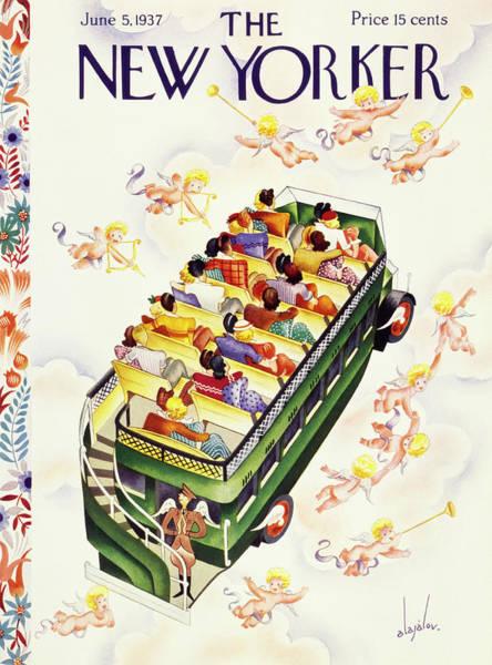 Illustration Painting - New Yorker June 5 1937 by Constantin Alajalov